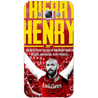 Absinthe Arsenal Therry Henry Back Cover Case For Samsung Galaxy J3