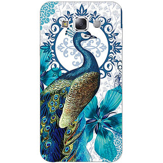Absinthe Paisley Beautiful Peacock Back Cover Case For Samsung Galaxy J5