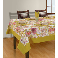 House This 8 Seater Table Cover , 8 Napkins And 1 Runner (Design 3)