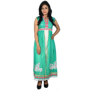 khushee green color Cotton kurti