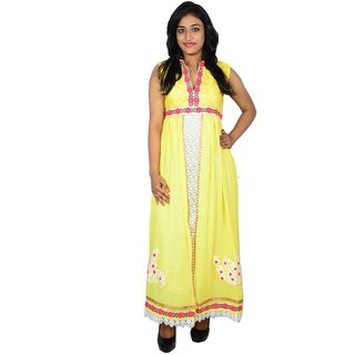 khushee yellow color Cotton kurti
