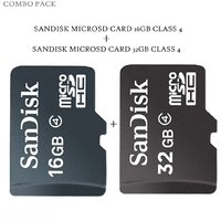 Combo Of Sandisk 32 Gb + 16 Gb Micro SD Card- Class 4 Micro SDHC Memory Card