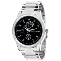 Swisstone Black Dial Stainless Steel Chain Analog Watch For Men/Boys- ST-GR006-BLK-CH