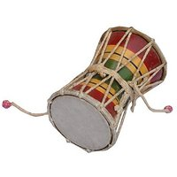Sg Musical Multicolour Wooden Damru/Monkey Drum Sdl615523974