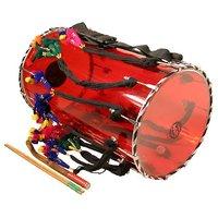 Sg Musical Red Transperent Dhol Sdl243949634