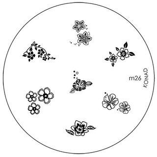 Konad Image Plate M26 (Pack Of 2)