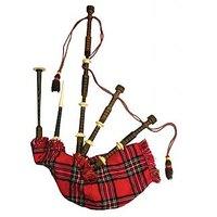 Sg Musical Bagpipe, Rosewood, Red Tartan Sdl949674352