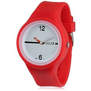 w80 - Miler sports wrist watch for Men And Women - Red