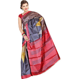 Parchayee Printed Black Synthetic Saree 94017A