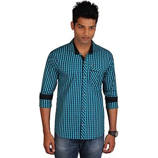 E-Color MenS Checkered Casual Shirt (SHTE5YNU82GSAYFF)