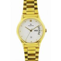 Maxima Formal Gold Day-Date Watch For Men Gold 06365CMGY