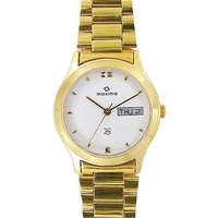 Maxima Formal Gold Day-Date Watch For Men Gold 01394CMGY