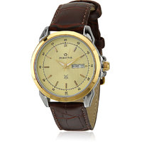 Maxima Formal Gold Day-Date Watch For Men Brown 26340LMGT