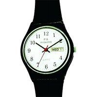 Maxima Round Dial Black Plastic Strap Mens Quartz Watch - 88159235