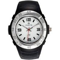 Maxima Round Dial Black Plastic Strap Mens Quartz Watch - 88158933