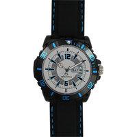 Maxima Round Dial Black Silicone Strap Mens Quartz Watch - 88159048