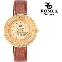 Romex Ion Gold Plated Analog Watch  - For Girls, Women