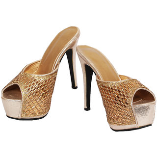 Rialto Gold Heel Sandal For Women HL185