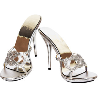 Rialto Silver Heel Sandal For Women HL226
