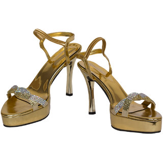 Rialto Gold Heel Sandal For Women HL229