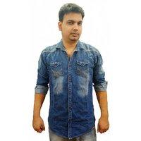 Trendmakerz Men's Blue Regular Casual Shirt