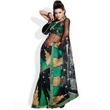 HIBA Temple Embroidered Net Saree available at ShopClues for Rs.3269