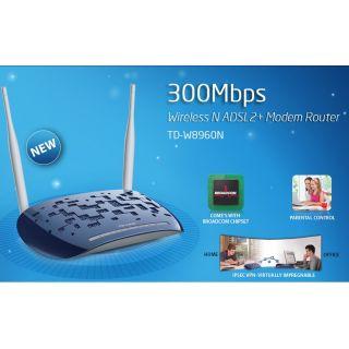 TP-Link 300Mbps Wireless N ADSL2+ Modem Router TD-W8960N