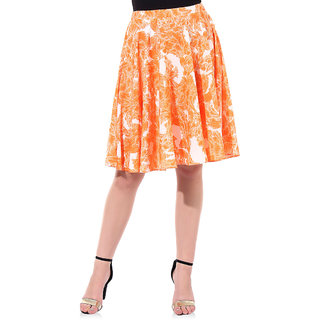 Oxolloxo Women Orange Skirt (S16014WSK002)