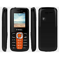 IKall K99 Black-Orange (1.8 Inch,Dual Sim, BIS Certified, Made In India)