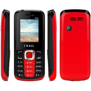 IKall K99 Black-Red (1.8 Inch Dual Sim BIS Certified Made in India)