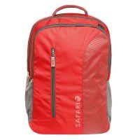 Safari Emerge Red Causal Backpack-LXWXH-33.5X20X47