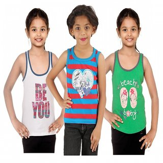 Menthol Girls Tank top pack of 3