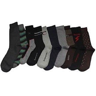 Aplus Mens Cotton Assorted Socks (ASSORTEDSOCKSPO10)