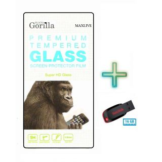 Screen Tempered Glass For Micromax YU YUREKA AO5510 With Free16Gb  Pen Drive