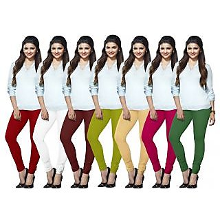 Lux Lyra Multicolored Pack of 7 Cotton Leggings LYRAIC02101315183351FS7PC