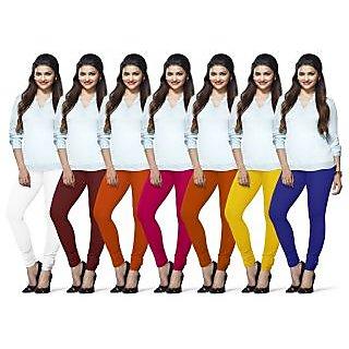 Lux Lyra Multicolored Pack of 7 Cotton Leggings LYRAIC10131733576067FS7PC