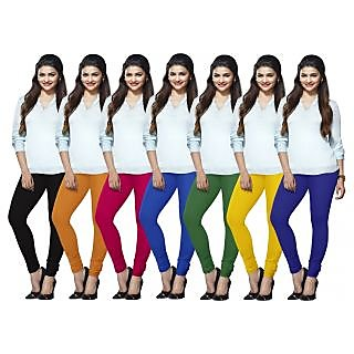 Lux Lyra Multicolored Pack of 7 Cotton Leggings LYRAIC11213349516067FS7PC
