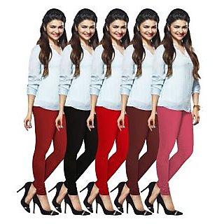 Lux Lyra Multicolored Pack of 5 Cotton Leggings LyraIC02111213145PC