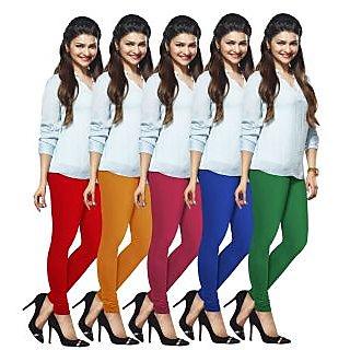 Lux Lyra Multicolored Pack of 5 Cotton Leggings LyraIC12213349515PC