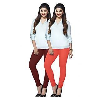 Lux Lyra Multicolored Pack of 2 Cotton Leggings LyraIC1385FS2PC