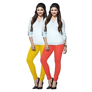 Lux Lyra Multicolored Pack of 2 Cotton Leggings LyraIC6085FS2PC