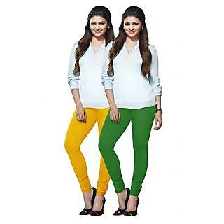 Lux Lyra Multicolored Pack of 2 Cotton Leggings LyraIC8892FS2PC