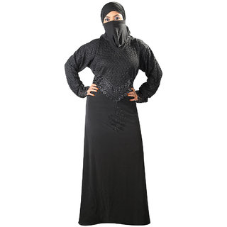 Hawai Trendy Design Black Burqa