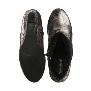 Bruno Manetti Silver Boots (5015-Silver-Black) ]