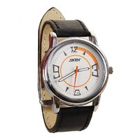 SKIN White/Orange Dial Analog Watch