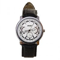 SKIN White/Silver Dial Analog Watch