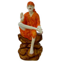 Madg Religious Idols Of Satya Shree Sai Baba Premium Statue Showpiece (H24.5 Cm X W12 Cm X D11 Cm)