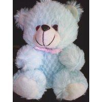 Cute Hanging Teddy Bear, Valentine, Bday Gift, Soft Toys, 7 Inch ,SKY