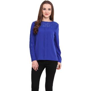 Blue Sequin Women Blue Top