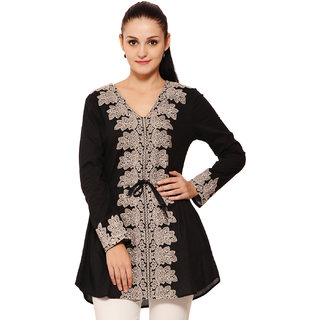 Global Colours Women Black Tunic